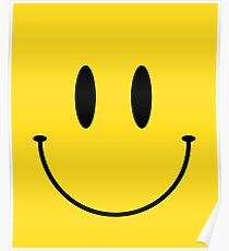 Smile face classic emoji Poster