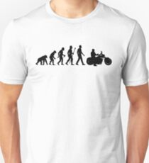 Evolution of Man Motorcycle T-Shirt