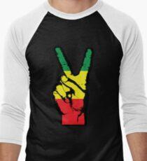 RASTA FRIEDENSFINGER-002 Baseballshirt für Männer