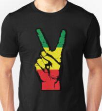Camiseta ajustada RASTA PEACE FINGERS-002