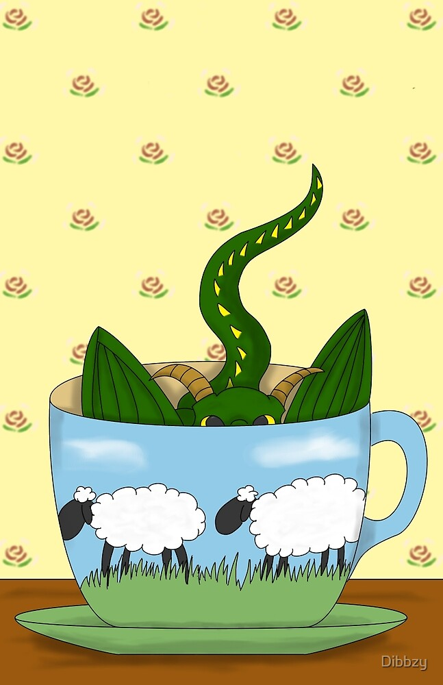 Dragon in a tea cup by Dibbzy