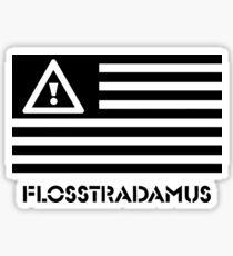 FLOSSTRADAMUS FLAG B&W Sticker