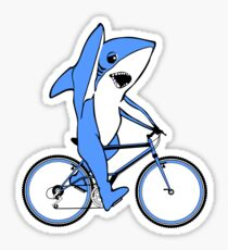 Bicycle Riding Left Shark  Sticker