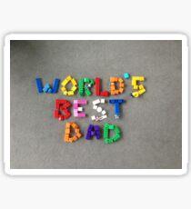 World's best dad Sticker