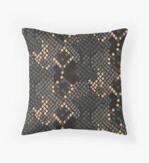 Snake skin artificial seamless texture. Throw Pillow