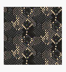 Snake skin artificial seamless texture. Photographic Print