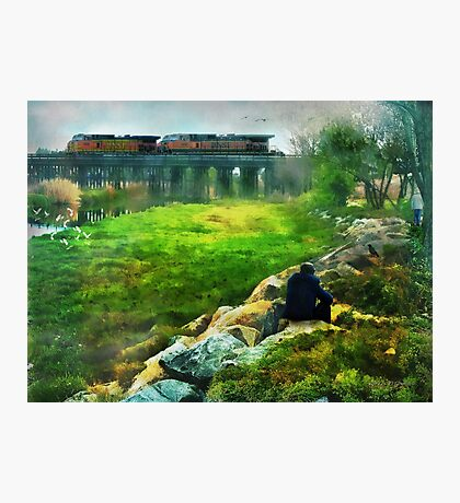 Railroad Wings Photographic Print