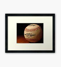 MLB Ball Framed Print