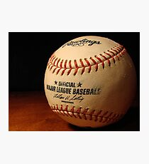 MLB Ball Photographic Print