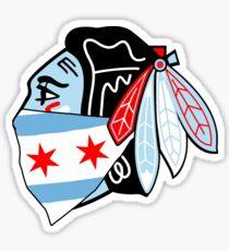 Chicago Theme- Chicago Blackhawks Logo With Bandana  Sticker