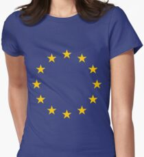 The Flag of Europe Women's Fitted T-Shirt