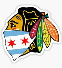 Chicago Blackhawks Logo With City Bandana  Sticker