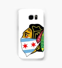 Chicago Blackhawks Logo With City Bandana  Samsung Galaxy Case/Skin