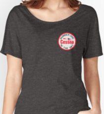 Camiseta ancha para mujer Insignia de Cessna Aircraft Company
