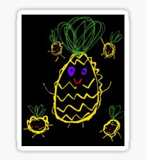 Mummy Pineapple and Her Babies Sticker