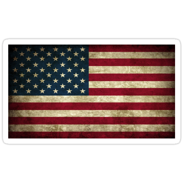Quot Vintage American Flag Quot Stickers By Darienbecker Redbubble