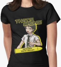Hajime Hinata - That's Wrong Womens Fitted T-Shirt