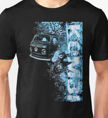 Volkswagen Kombi Tee shirt - Grunge Blue T-Shirt