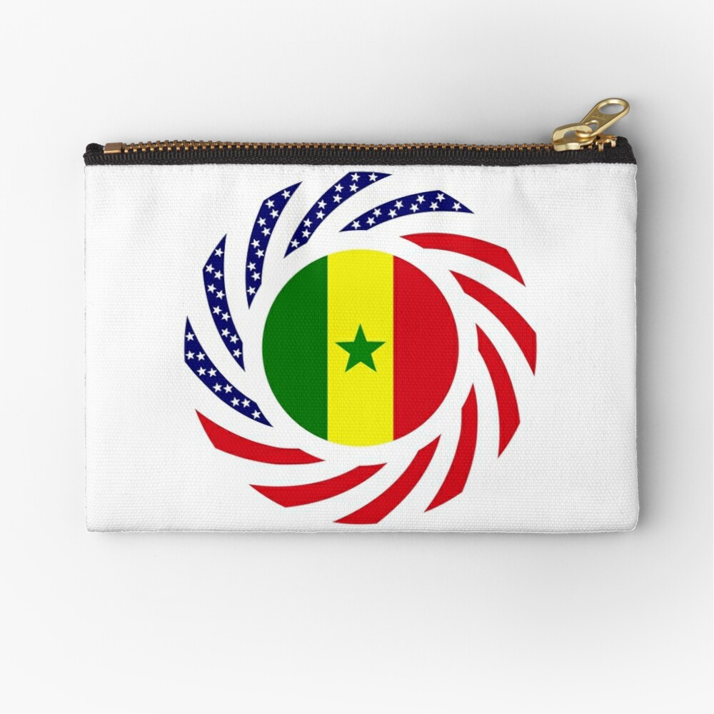 Senegalese American Multinational Patriot Flag Series Zipper Pouch
