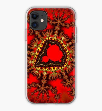 Red Mandelbrot  iPhone Case