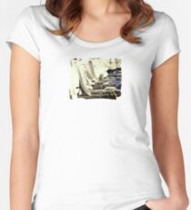 At the Beach  - JUSTART ©  Women's Fitted Scoop T-Shirt