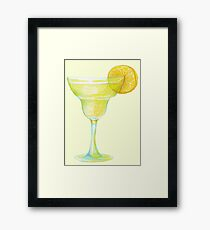Beaker with lemon Framed Print