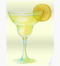 Beaker with lemon Poster
