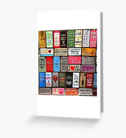 Signs Of The Time Inspirational Mosaic Greeting Card