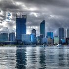 Perth city panorama by BigAndRed