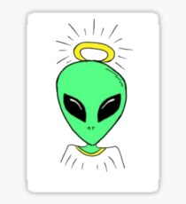 Alien Angel Sticker
