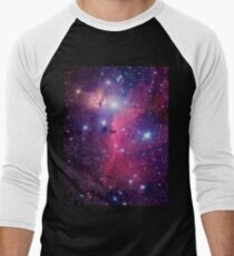 Purple Galaxy Men's Baseball ¾ T-Shirt