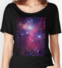 Lila Galaxie Loose Fit T-Shirt
