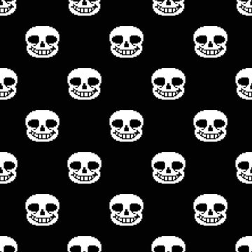 Undertale Sans Pattern - Black by sophjade