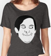 Tobey Maguire Face meme Women's Relaxed Fit T-Shirt