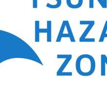 Tsunami Hazard Zone, Sign, Canada Sticker