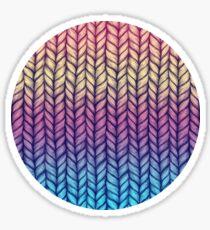 Rainbow Gradient Chunky Knit Pattern Sticker