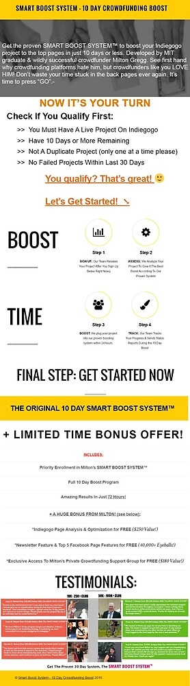 Smart Boost System Infographics by smartboost