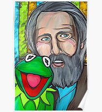 Jim Henson & Kermit the Frog Poster