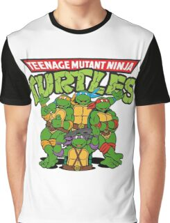 TMNT Baseball Raglan Sleeve Tee Shirt Adults