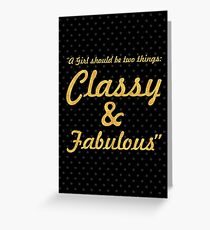 """A girl shoud... """"Coco Chanel"""" Inspirational Quote Greeting Card"""