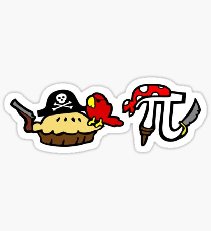 Pie and Pi Pirates Sticker