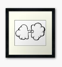 Puzzle cloud Framed Print