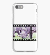 Sketch of Rhino on Film iPhone Case/Skin