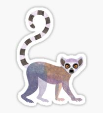 L is for Lemur Sticker