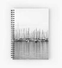 Winters Day at the Yacht Squadron Spiral Notebook