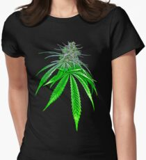 Dope Bud Womens Fitted T-Shirt