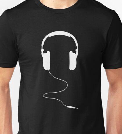 Headphones White Unisex T-Shirt
