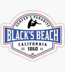 SURFING BLACK'S BEACH SAN DIEGO SURF CALIFORNIA SURFER'S PARADISE BEACH SURFBOARD Sticker