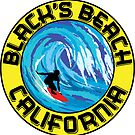 Surfer BLACK'S BEACH California Surfing Surfboard Waves Ocean Beach Vacation by MyHandmadeSigns