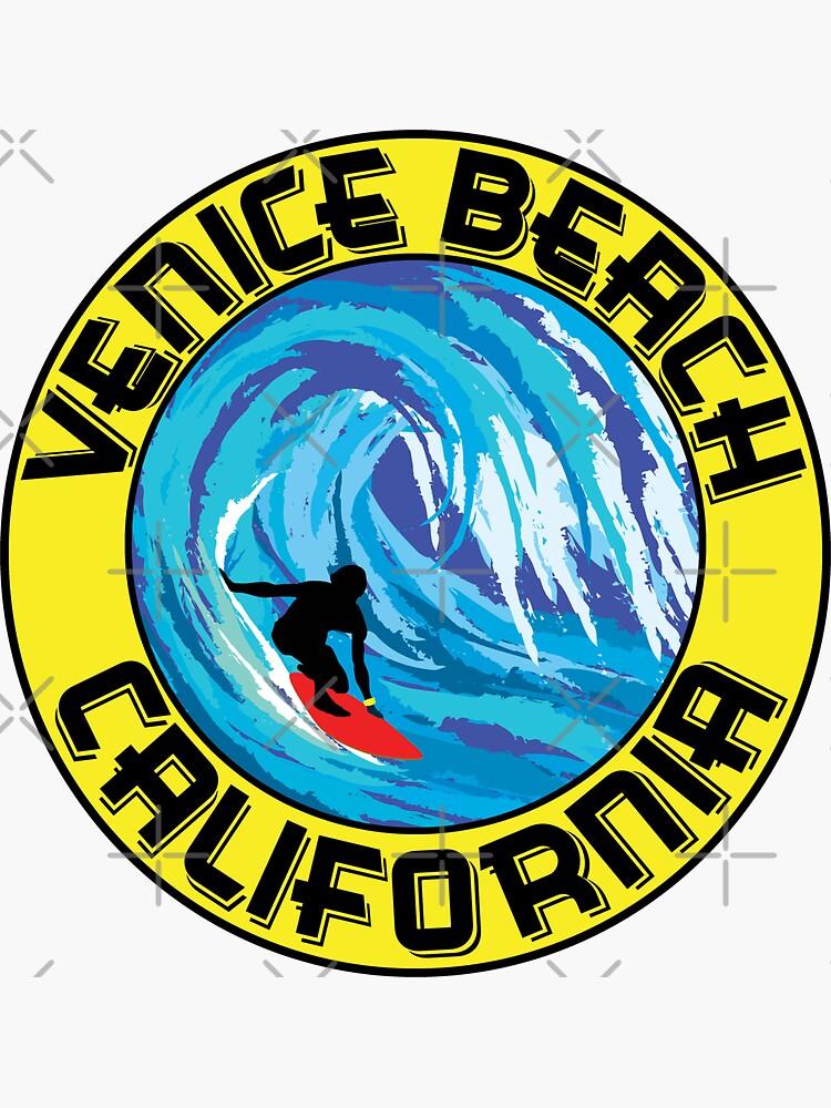 Surfer VENEDIG STRAND California Surfen Surfbrett Wellen Ocean Beach Vacation von MyHandmadeSigns